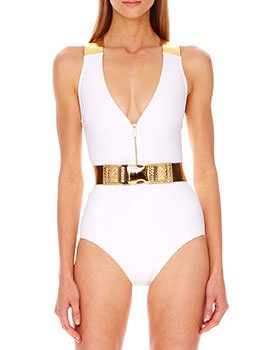 Michael Kors Belted Swimsuit