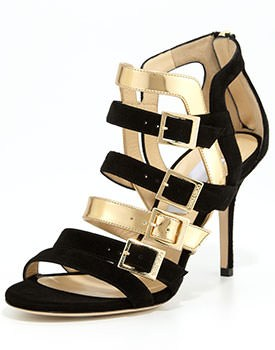 Jimmy Choo Black Gold Shoes