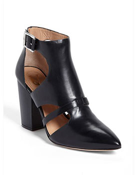 VC leather bootie