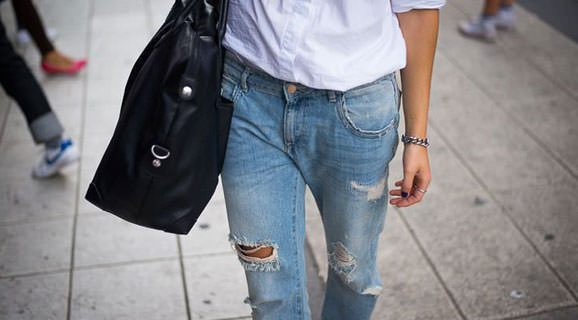 Boyfriend jeans for moms