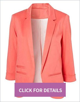 Slim blazer in pink