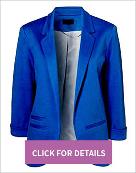 Slim blazer in blue