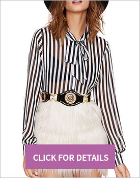 Black-white stripes blouse