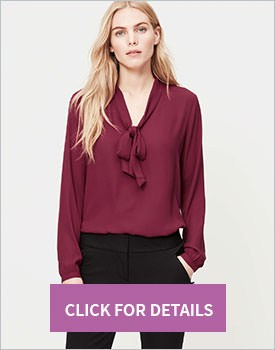 Bow neck blouse