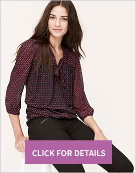 Deco Tie Neck Blouse