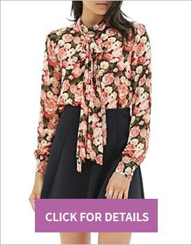 Stand up collar blouse