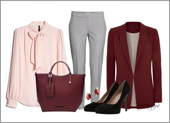 office outfit bow blouse with pants