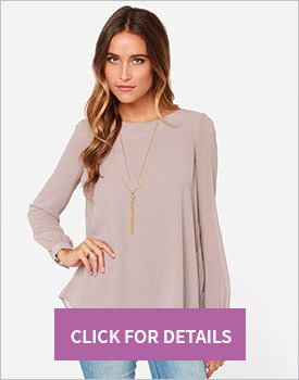 Nude Pleated Back Blouse