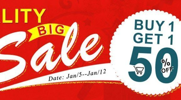 Big sale! Buy one get one 50% Off!