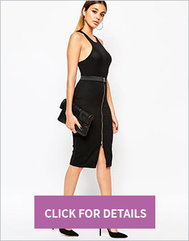 River Island Ribbed Zip Skirt