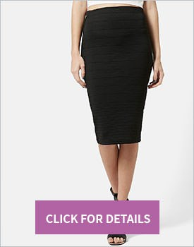 TopShop Graduated Rib Bodycon Skirt