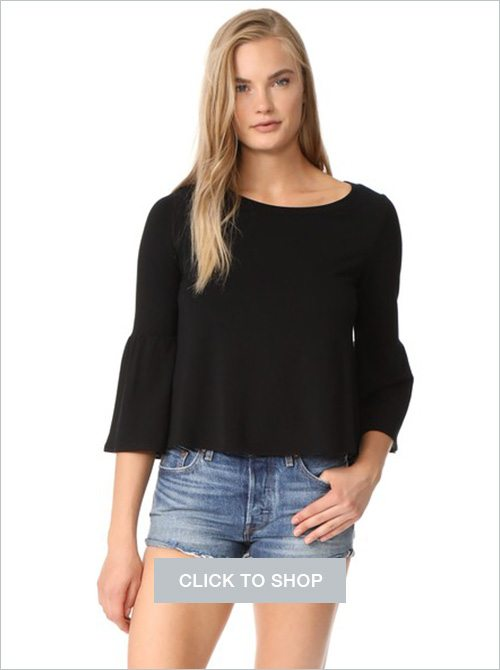 Libby flare sleeve crop top