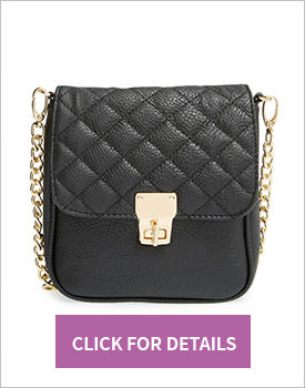 Amici Accessories Quilted Crossbody Bag