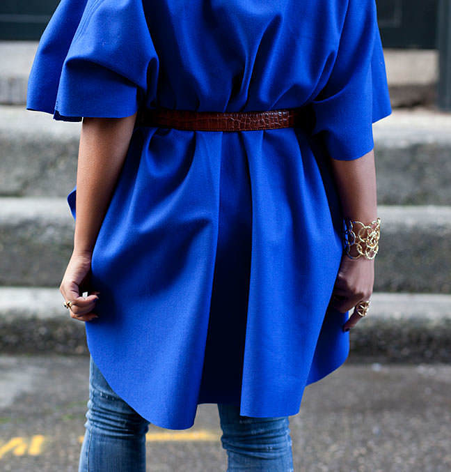 poncho belted