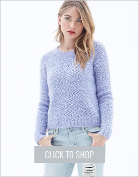 Contemporary Faux Mohair Sweater