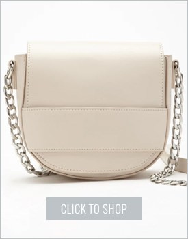 Faux Leather Flaptop Crossbody