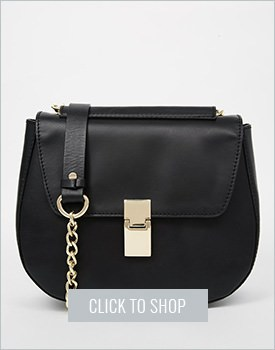 Asos Leather Structured Saddle Bag
