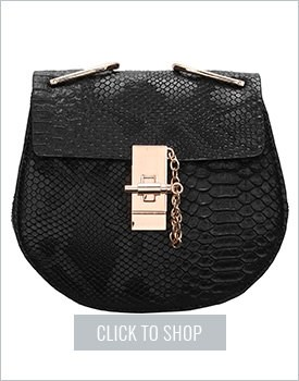 Black Metallic Chain Bag