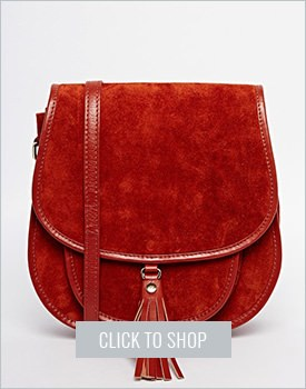 Asos Suede Saddle Shoulder Bag