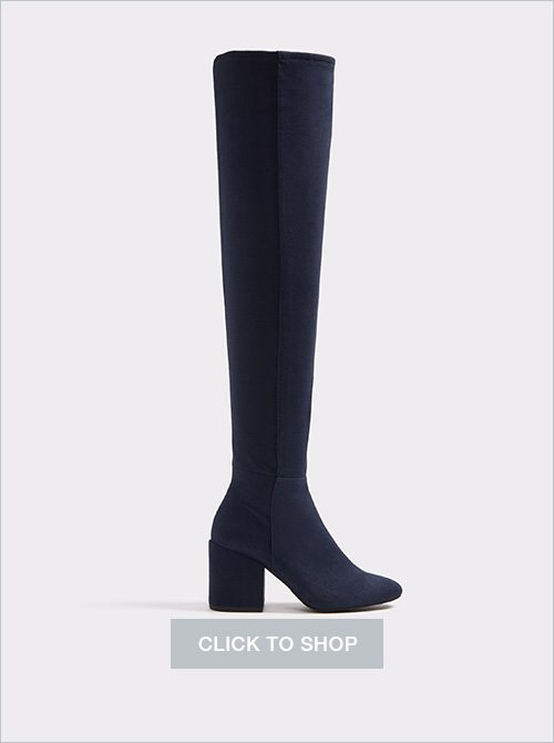 Belinna Blue Aldo over-the-knee suede boots