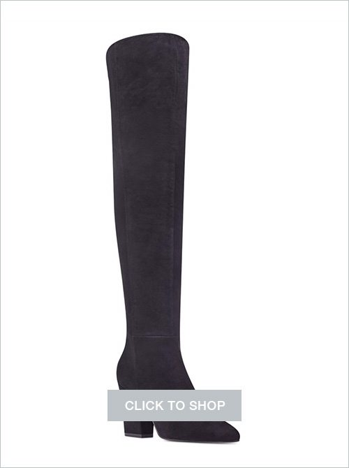 Nine West over-the-knee block heel suede boots