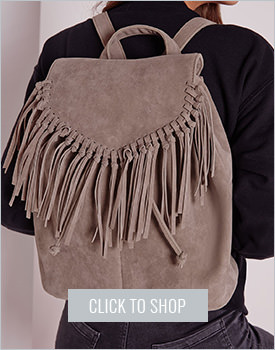 Tassel trim backpack