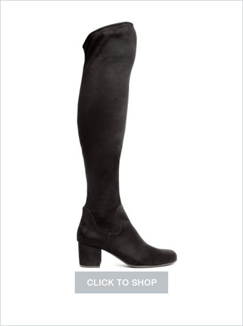 H&M over-the-knee faux suede boots