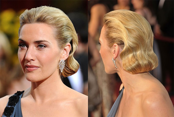 Kate Winslet hairstyle Oscars 2009