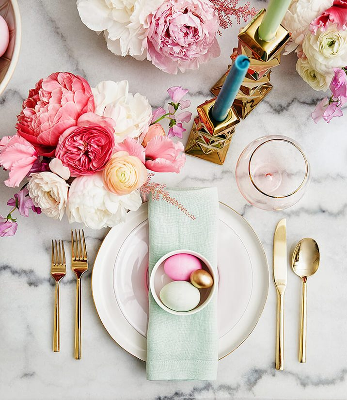 mujo colorful easter tablescape