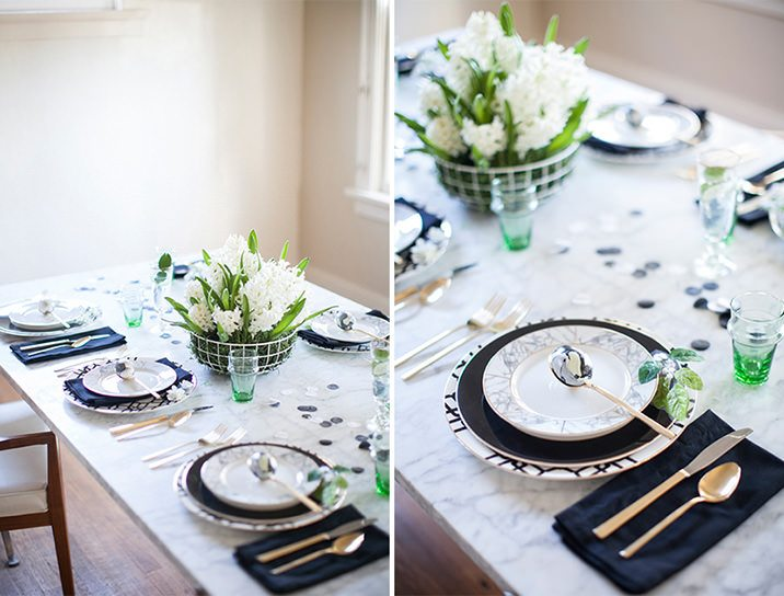 Mujo Modern easter tablescape