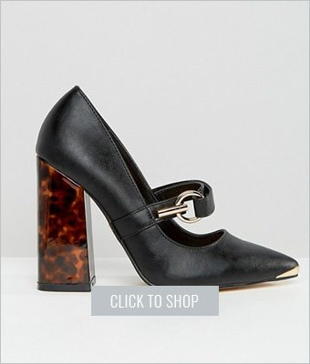 Lost Ink BlockHeel Shoes