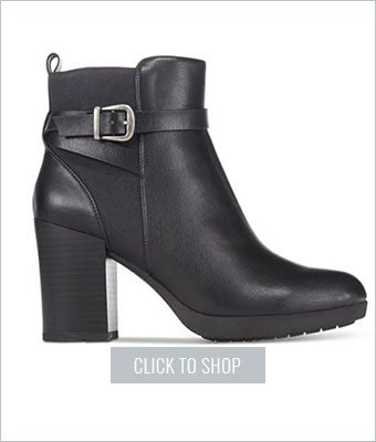 White Mountain Block Heel Booties