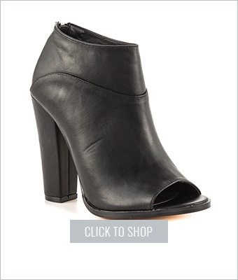 John Black Peep Toe Booties