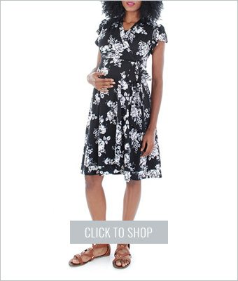 Everly Grey Kathy maternity wrap dress