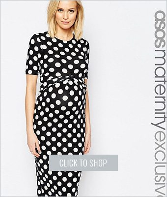 Asos maternity bodycon dress
