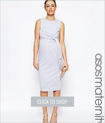 Asos maternity knot side bodycon dress