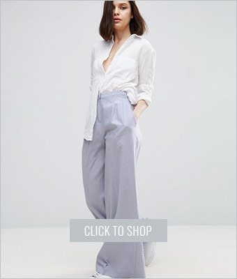 Asos linen wide leg pants