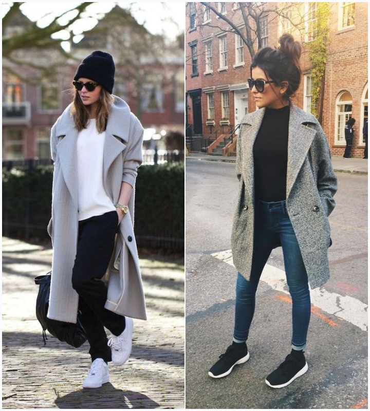 mujo gray coat sneakers