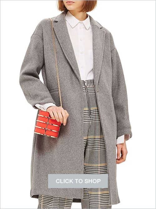 Topshop bonded knit coat
