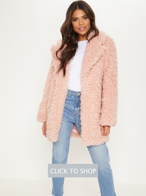 Pink Teddy Fur Coat