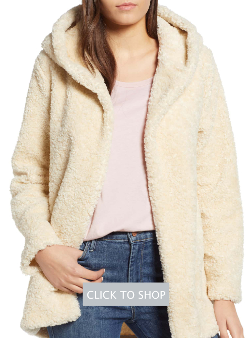 Dylan Hooded Faux Fur Jacket