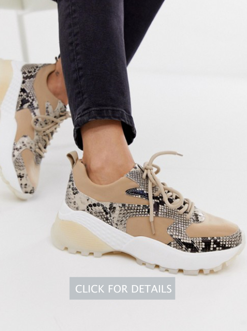 River Island sneakers with chunky sole