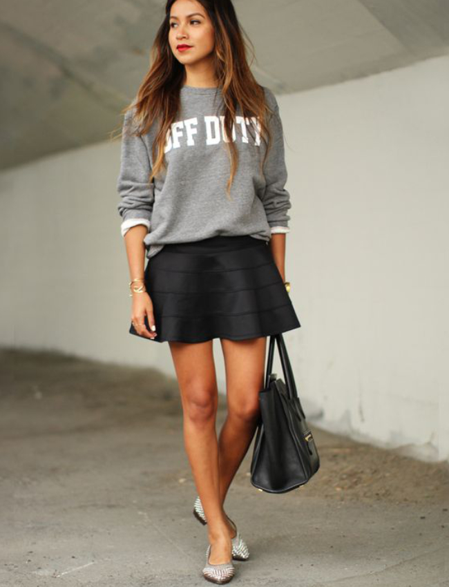 french-chic-sweatshirt-flats-mini-skirt